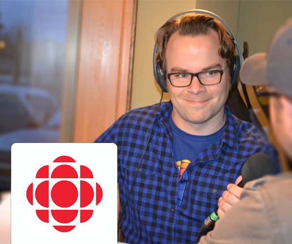 Madi chats with Doug Herbert at CBC